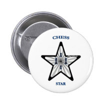 Chess Star Pinback Buttons