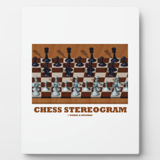 Chess Stereogram (Chess Pieces 3-D) Plaque