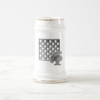 Chess Strategy Beer Stein 18 Oz Beer Stein