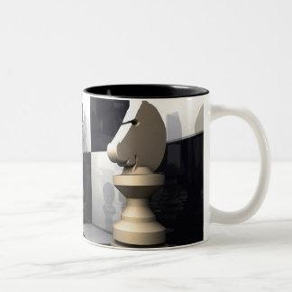 Chess Style Two-Tone Coffee Mug