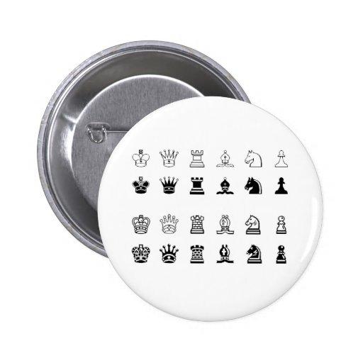 Chess symbols pinback button