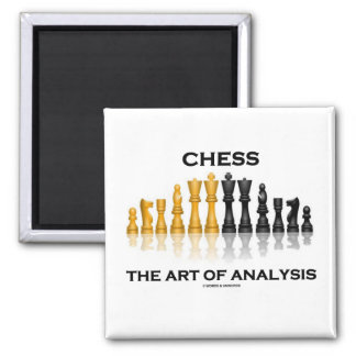 Chess The Art Of Analysis 2 Inch Square Magnet