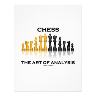 """Chess The Art Of Analysis 8.5"""" X 11"""" Flyer"""
