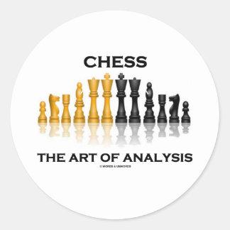 Chess The Art Of Analysis Classic Round Sticker