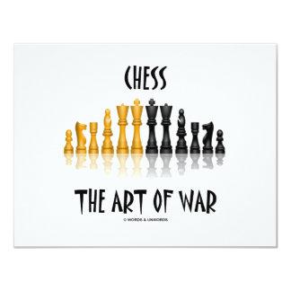 Chess The Art Of War (Matisse Font) Invitation