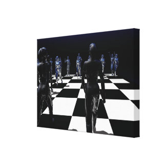 Chess - The Bishop's View Gallery Wrapped Canvas