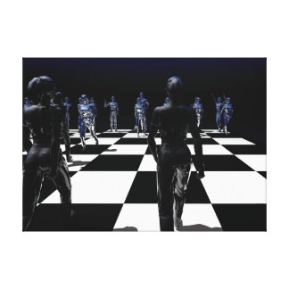 Chess - The Bishop's View Stretched Canvas Prints