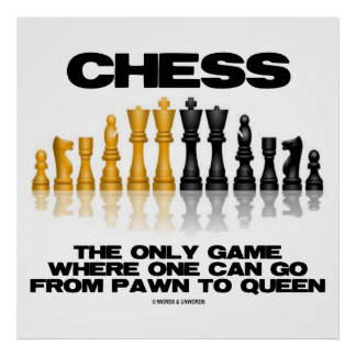 Chess The Only Game Where One Can Go Pawn To Queen Poster