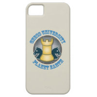 Chess University on Planet Earth Emblem iPhone 5 Cases