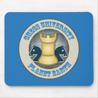 Chess University on Planet Earth Emblem Mouse Pad