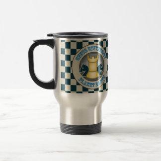 Chess University on Planet Earth Emblem Travel Mug