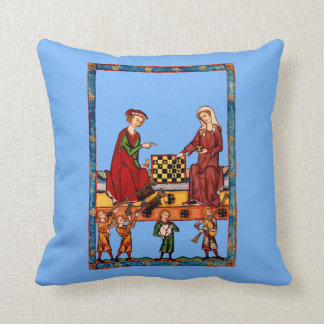 Chess vs. Flirting: you be the judge. Throw Pillow