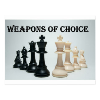 Chess - Weapons Of Choice Postcard