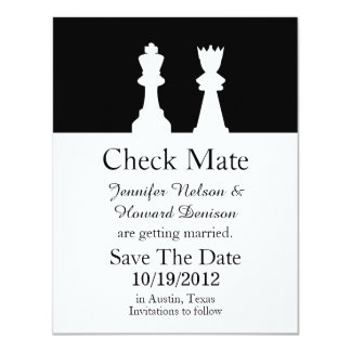 Chess Wedding Save The Date Announcement