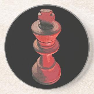 Chess, White King 3 Drink Coaster
