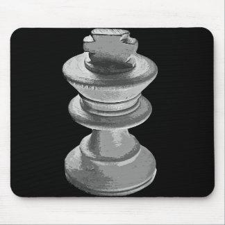 Chess White King Black and White Mousepad