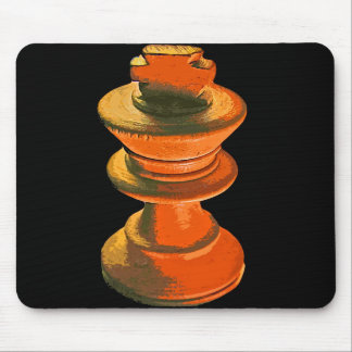 Chess White King Stylised 1 Mouse Pads