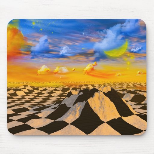 Chess world mouse pad