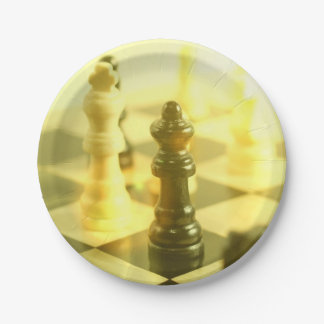 chessboard 7 inch paper plate