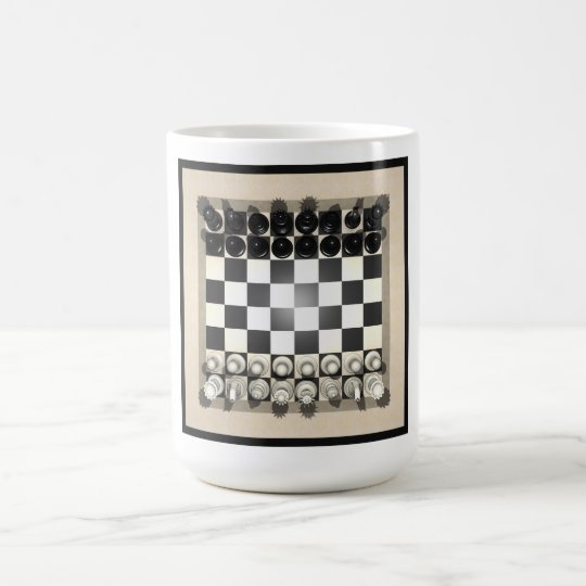 Chessboard and Chess Pieces: Coffee Mug
