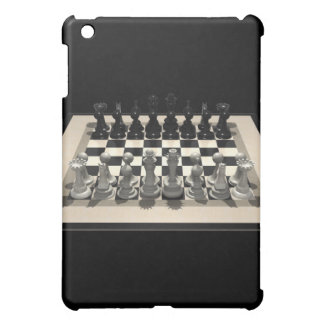 Chessboard and Chess Pieces: iPad Case