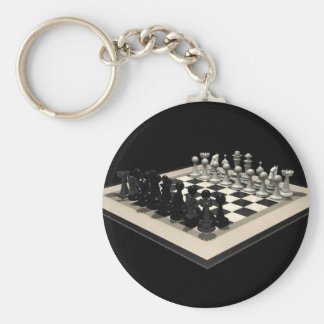 Chessboard and Chess Pieces: Keychain