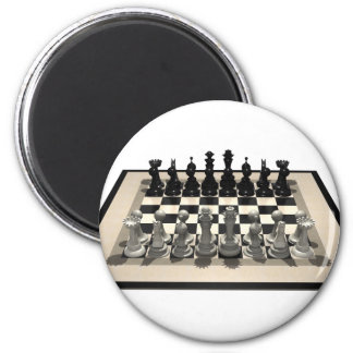 Chessboard and Chess Pieces: Refrigerator Magnet