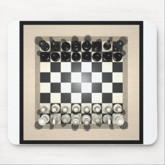 Chessboard and Chess Pieces: Mouse Pad