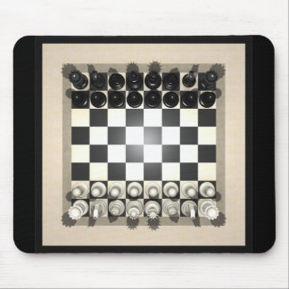 Chessboard and Chess Pieces Mousepad