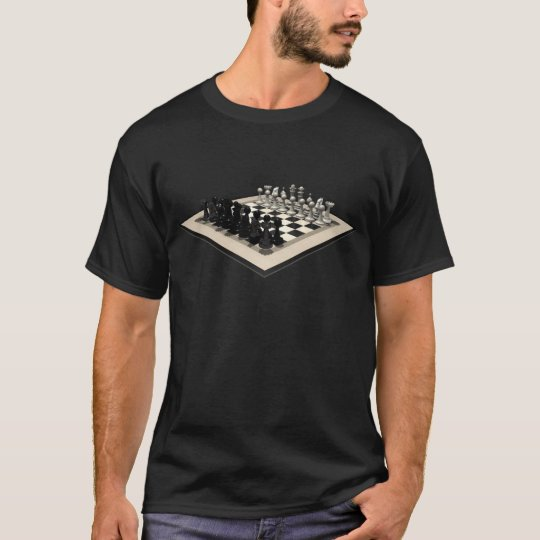 Chessboard and Chess Pieces: T-Shirt