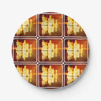 Chessboard and Pieces 7 Inch Paper Plate