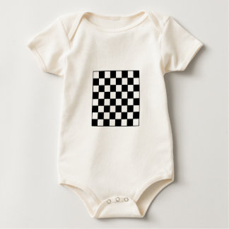 Chessboard B&W The MUSEUM Zazzle Gifts Baby Creeper