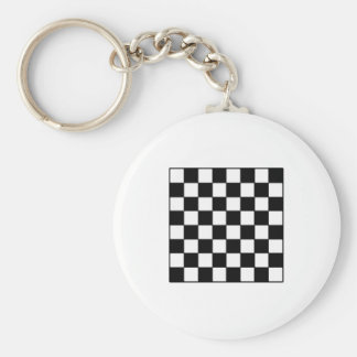 Chessboard B&W The MUSEUM Zazzle Gifts Basic Round Button Keychain