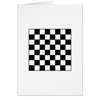 Chessboard B&W The MUSEUM Zazzle Gifts Card