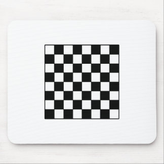 Chessboard B&W The MUSEUM Zazzle Gifts Mouse Pad
