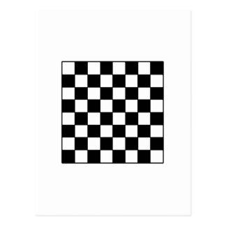 Chessboard B&W The MUSEUM Zazzle Gifts Postcard