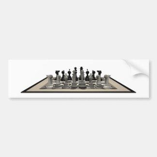 Chessboard & Chess Pieces: Bumper Sticker