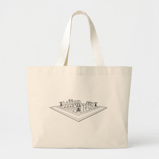 Chessboard & Chess Pieces: Canvas Bag
