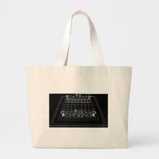 Chessboard & Chess Pieces: Large Tote Bag