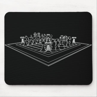 Chessboard & Chess Pieces: Mouse Pad