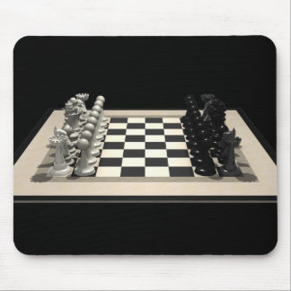 Chessboard & Chess Pieces: Mousepad
