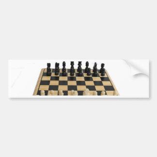 chessboard design bumper sticker