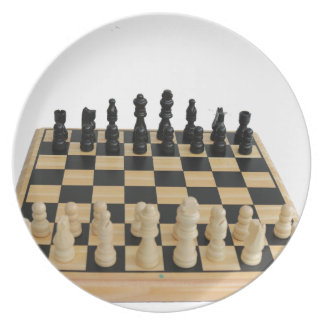 chessboard design melamine plate