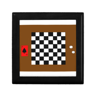 Chessboard, Dice, And Playing Card Jewelry Jewelry Box