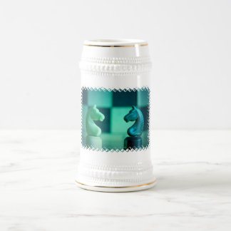 Chessboard Knights Beer Stein Coffee Mugs