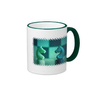 Chessboard Knights Coffee Mug