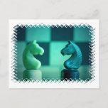 Chessboard Knights Postcard