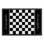 "Chessboard Leather - Zero Gravity Chess (for 3"") Poster"