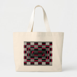Chessboard Neon Red City Urban Design Tote Bags