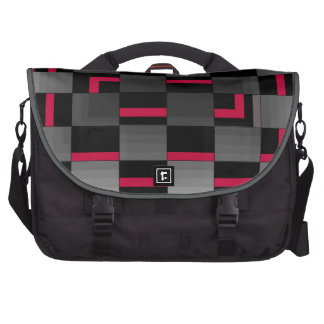 Chessboard Neon Red City Urban Design Bag For Laptop